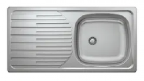 May Stainless Kitchen Sink Single Bowl Single Drain 860 X 435mm With Waste And Bottle Trap-cabinet