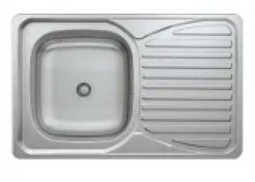 May Stainless Kitchen Sink Single Bowl Single Drain 800 X 500mm With Waste And Bottle Trap-cabinet